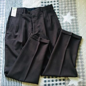 mens NWT Claiborne brown dress pants